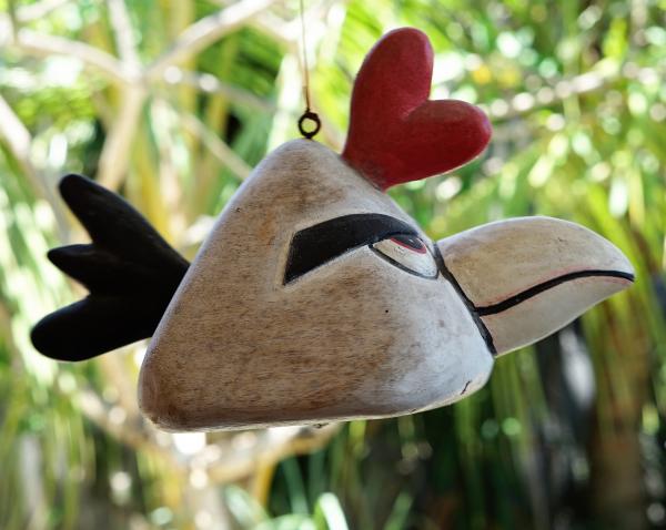 Sculpture en bois : Tree and birds par l'artiste peintre Teja Astawa