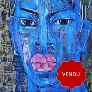 Tableau acrylique sur toile : Coca Cola Boy par l'artiste peintre Symon