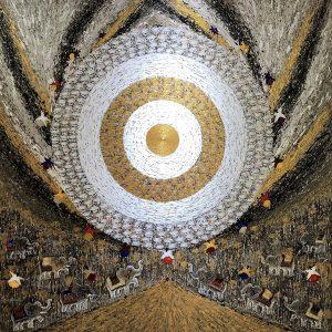 Tableau acrylique sur toile : Full moon par l'artiste peintre I Ketut Ada
