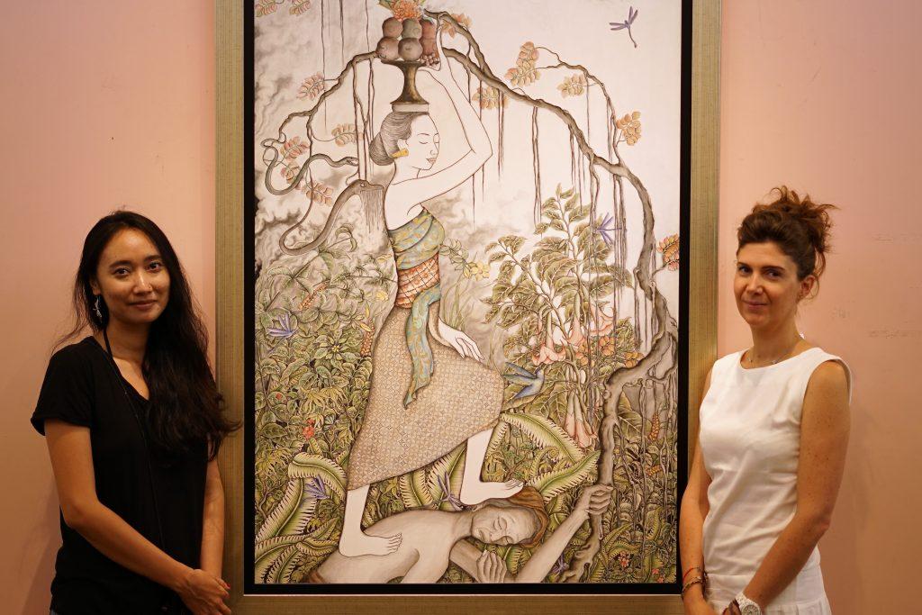 Photo of the artist Satya Cipta and Clotilde Canova