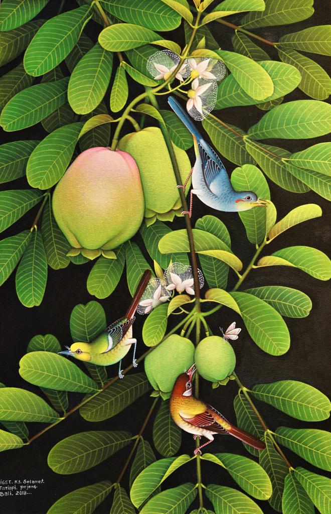 Tableau huile sur toile : Guava par l'artiste peintre I Gusti Ketut Selamet