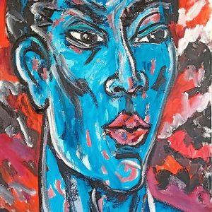 Tableau acrylique sur toile : Irruption par l'artiste peintre Symon