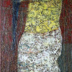 Tableau acrylique sur toile : Liane par l'artiste peintre I Dewa Made Sugita