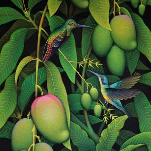Tableau huile sur toile : Mango par l'artiste peintre I Gusti Ketut Selamet