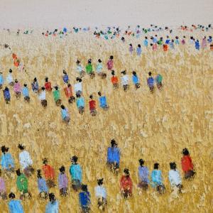Tableau acrylique sur toile : Plénitude par un artiste balinais