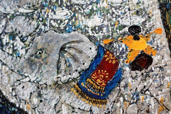 Tableau acrylique sur toile : Harmony in love par l'artiste peintre I Ketut Ada