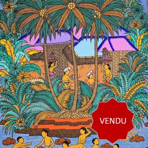 Tableau acrylique sur toile : Mandi di Laut par l'artiste peintre Tagen
