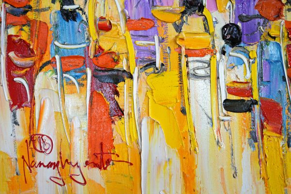 Acrylic painting on canvas : Ceremony by the artist Nanang Lugonto to discover on www.my-obe.com