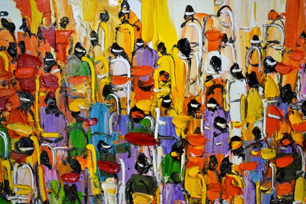 Tableau acrylique sur toile : Ceremony par l'artiste peintre Nanang Lugonto